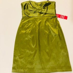 City Triangles Dresses - Olive Green Strapless Dress